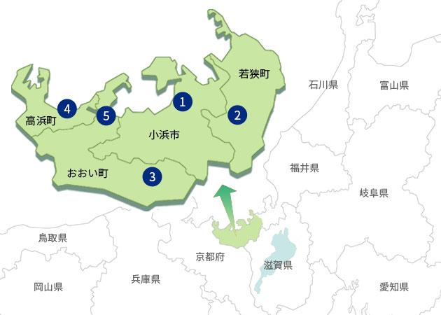 管内構成市町図